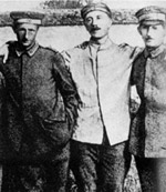 With two comrades during World War 1